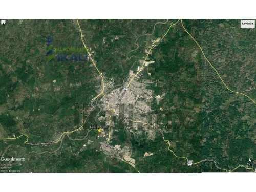 terreno en venta 8 hectáreas coatzintla veracruz. se encuentra ubicado en la carretera a palma sola. son 80,010.42 m²  tiene 500 metros de frente y 250 metros de fondo, cuenta con energía eléctrica,