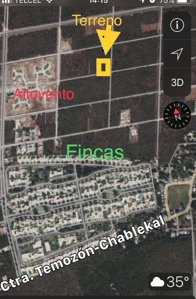 terreno en venta al norte de mérida, cerca de privada las fincas - temozón