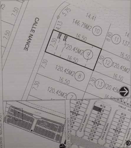 terreno en venta arbolada cancun 120.45 m2