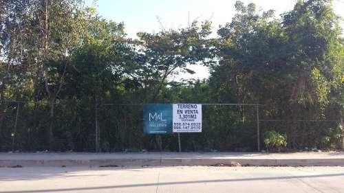 terreno en venta avenida fonatur. 3301 m2. smz 313. alamos ii. cancún
