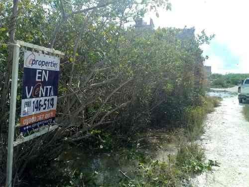 terreno en venta bahía petempich, puerto morelos.