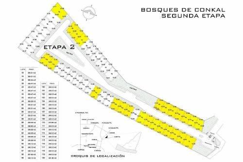 terreno en venta, bosques de conkal (2da etapa)