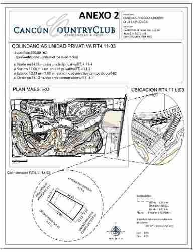 terreno en venta cancun country club quintana roo