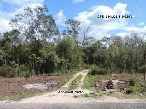 terreno en venta carretera a cancun de 40 has en 10 mdp