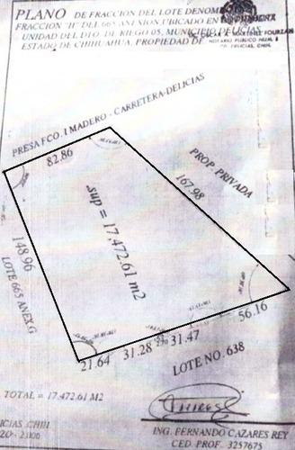 terreno en venta   carretera a las virgenes  a un costado del distrito de riego 05
