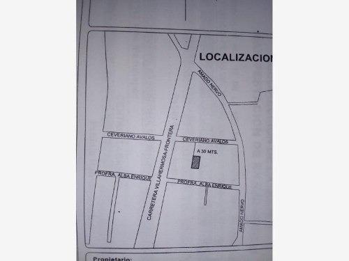 terreno en venta carretera vhsa-frontera antes de macultepec