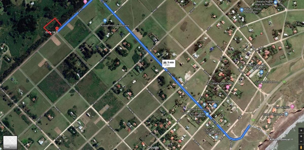 terreno en venta de 1034m2 ubicado en chapadmalal. son 2 lotes