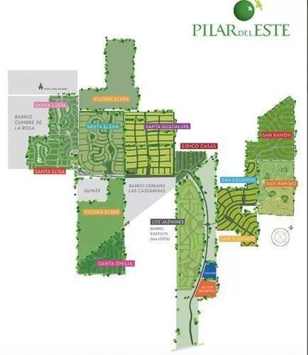 terreno en venta de 579 m2, en el barrio san ramón, pilar del este.