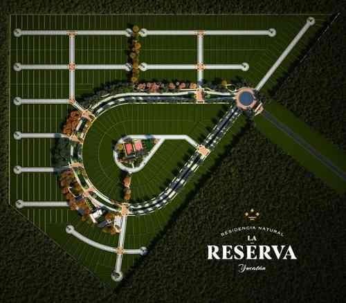 terreno en venta de 600 m2 frente a avenida en privada la reserva en conkal, yucatán