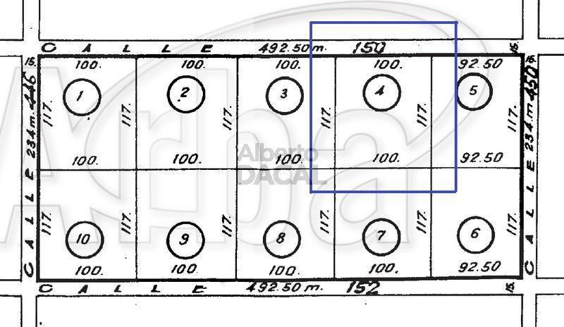 terreno en venta en 150/446 y 450 city bell - alberto dacal propiedades