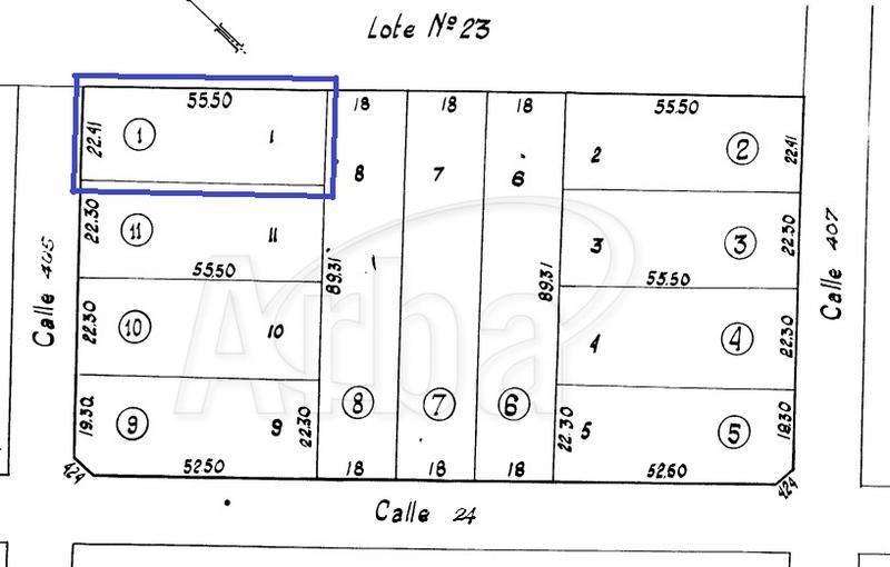 terreno en venta en 405/24 villa elisa - alberto dacal propiedades