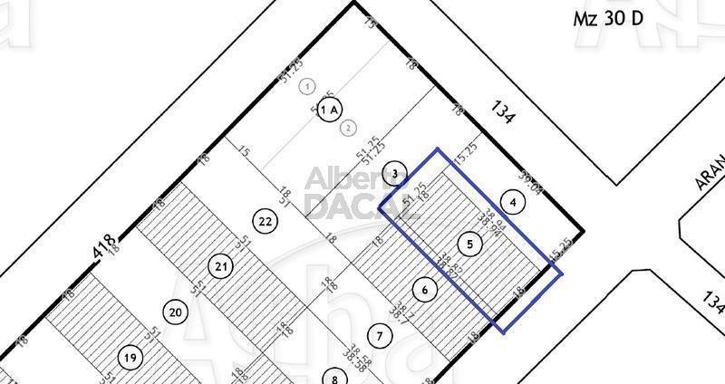 terreno en venta en 419/134 y 135 villa elisa - alberto dacal propiedades