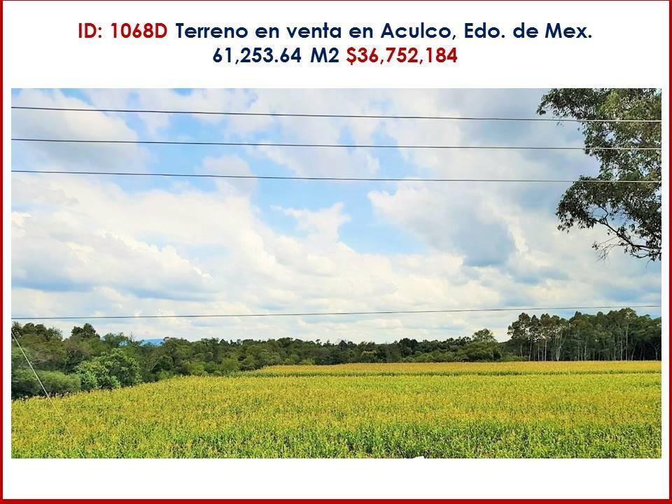terreno en venta en aculco, estado de méxico  $36,752,184