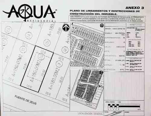 terreno en venta en aqua residencial av huayacan 180m2 9x20