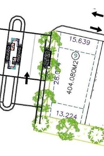 terreno en venta en arauca ii residencial, manzana e lote 9. 404.08 m2