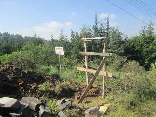 terreno en venta en  campestre cañada de cisneros, tepotzotlán.