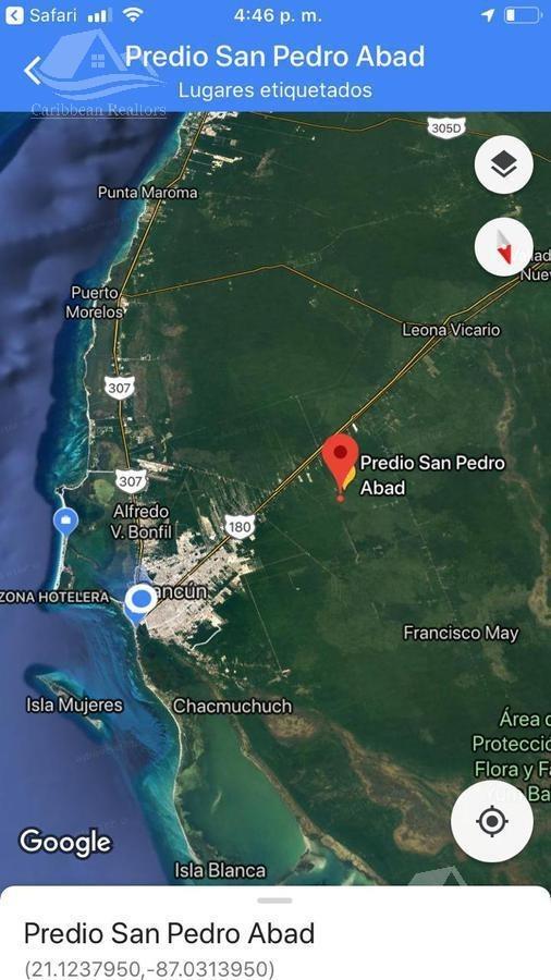 terreno en venta en cancún /san pedro abad /sm 148/mz29