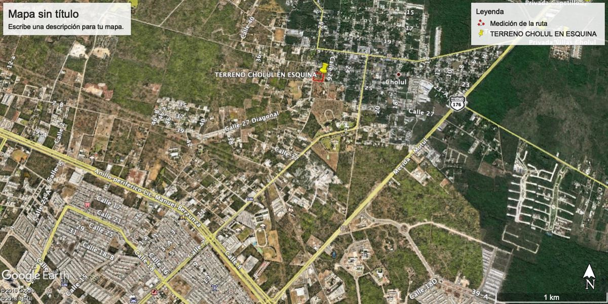 terreno en venta en cholul ideal para constructores,mérida,yucatán
