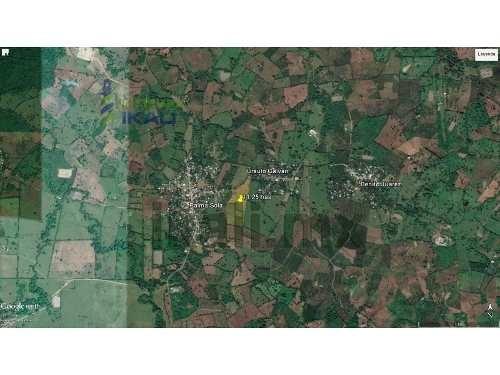 terreno en venta en coatzintla veracruz 11 hectáreas, ubicado en la carretera a palma sola, cuenta con 280.76 m de frente por 750 m de fondo, 1 cuarto, 1 baño para hombres y mujeres, palapa con asado