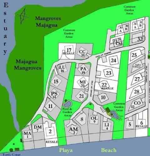 terreno en venta en condominio las tortugas en compostela, nayarit.