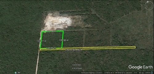 terreno en venta en conkal de 2.3 hectáreas