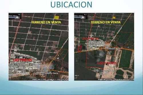 terreno en venta en esquina en merida, yucatan, temozón