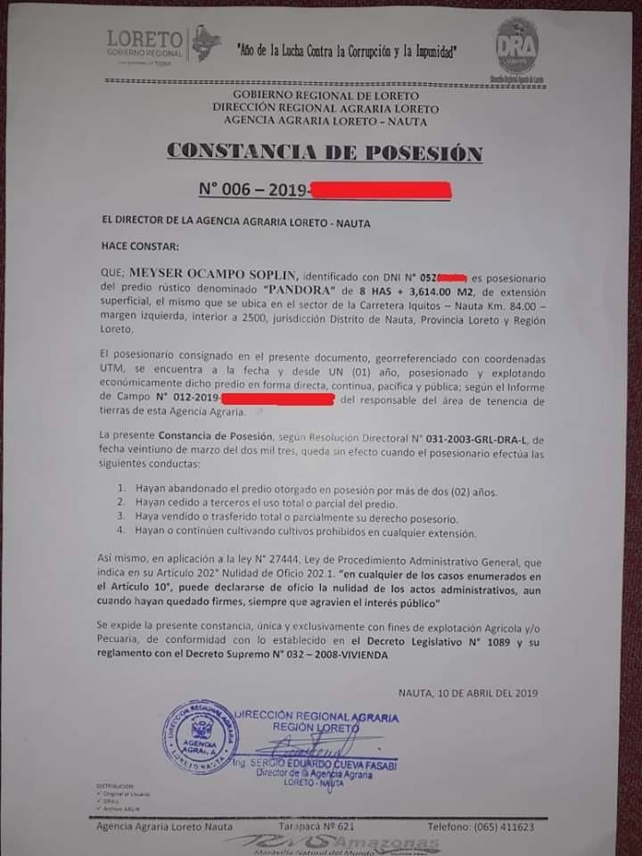 terreno en venta en iquitos, 12 hectáreas