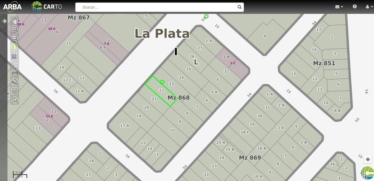 terreno en venta en la plata   avda. 53 e/15y16
