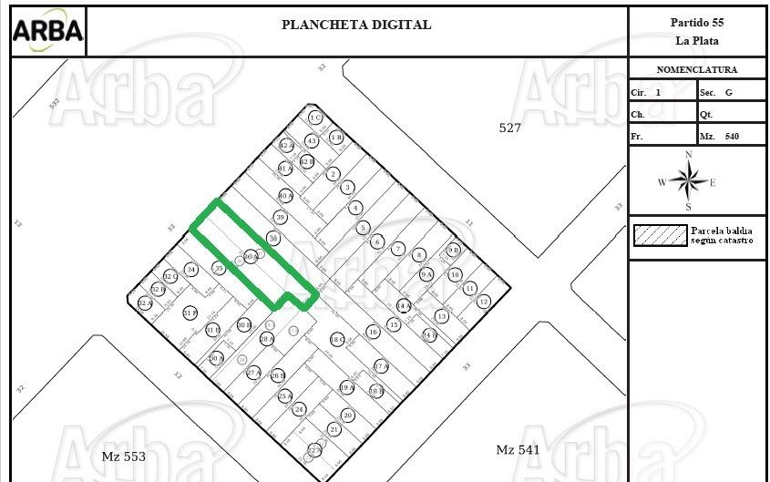 terreno en venta en la plata | avda32 e/11y12