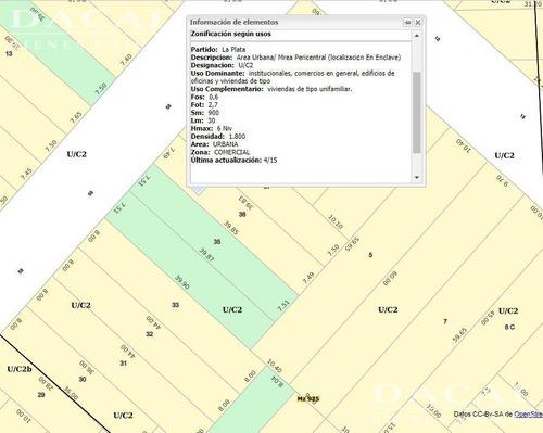 terreno en venta en la plata calle 58 e/ 18 y 19 dacal bienes raices