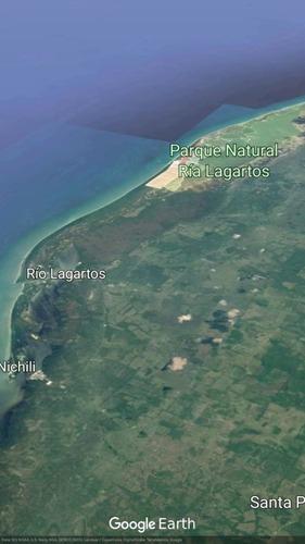 terreno en venta en la playa de las costas yucatecas. rio lagartos