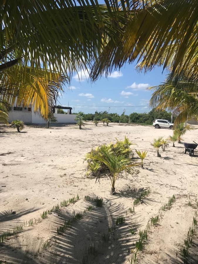 terreno en venta en la playa de san benito, en yucatan, segunda fila lateral