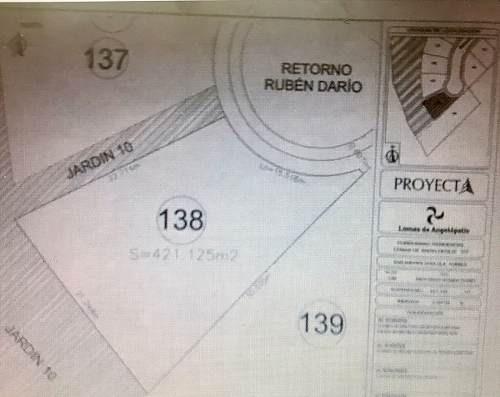 terreno en venta en lomas de angelópolis - cluster 777