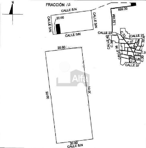 terreno en venta en mérida,   1000 m2, komchen, uso de suelo habitacional