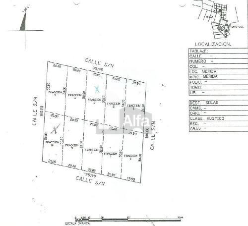 terreno en venta en mérida,  987 m2 en san antonio ool
