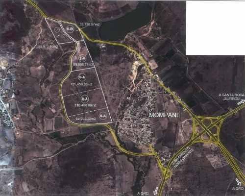 terreno en venta en mompaní, 105,450.33 m2
