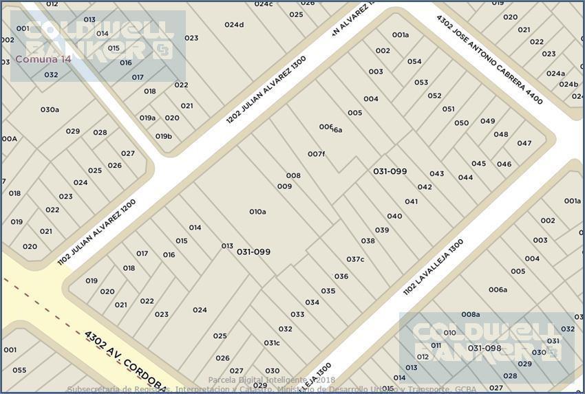 terreno en venta en palermo en esquina para 1847m2 vendibles