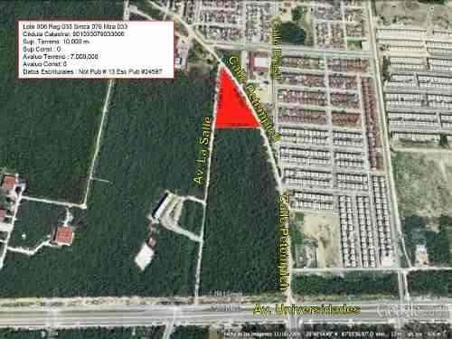 terreno en venta en playa del carmen 10,000 m2