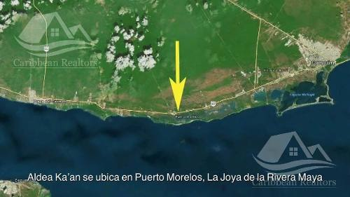 terreno en venta en puerto morelos/riviera maya