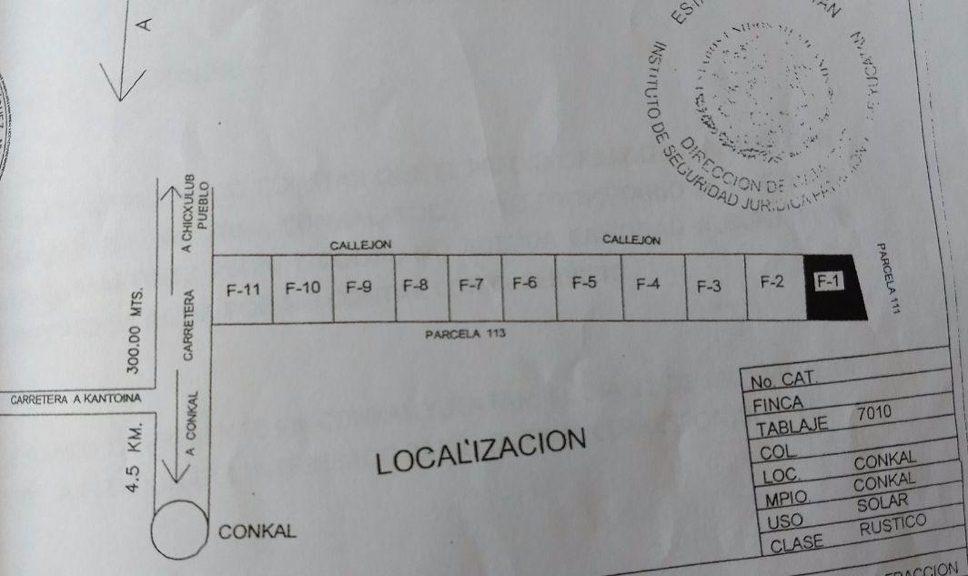 terreno en venta en quintas conkal 787m2