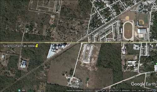 terreno en venta en uman 3.5 has, carretera kinchil, yucatan
