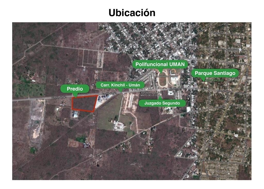 terreno en venta en uman de 3.4 hectareas
