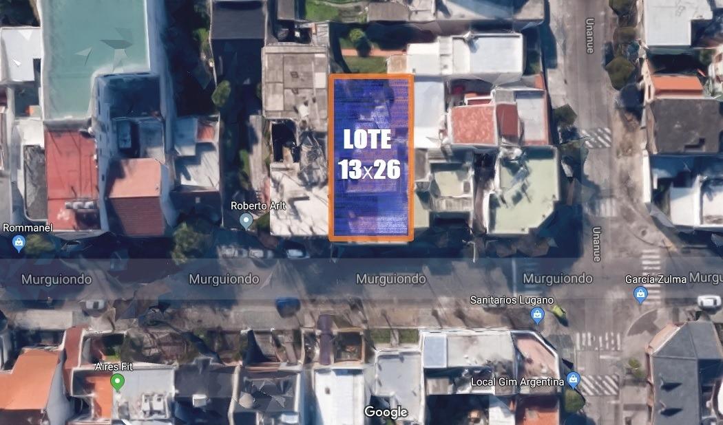 terreno en venta en villa lugano