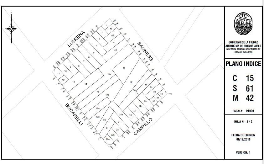 terreno en venta en villa ortuzar