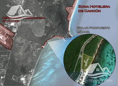 terreno en venta en zona hotelera cancún