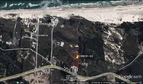 terreno en venta frente a la playa escondida.