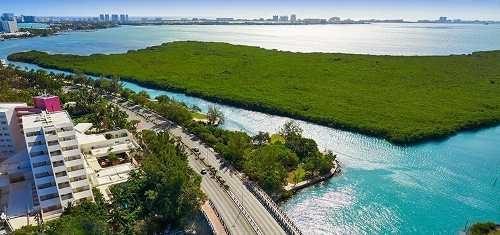 terreno en venta frente a laguna nichupté, zona hotelera, cancún