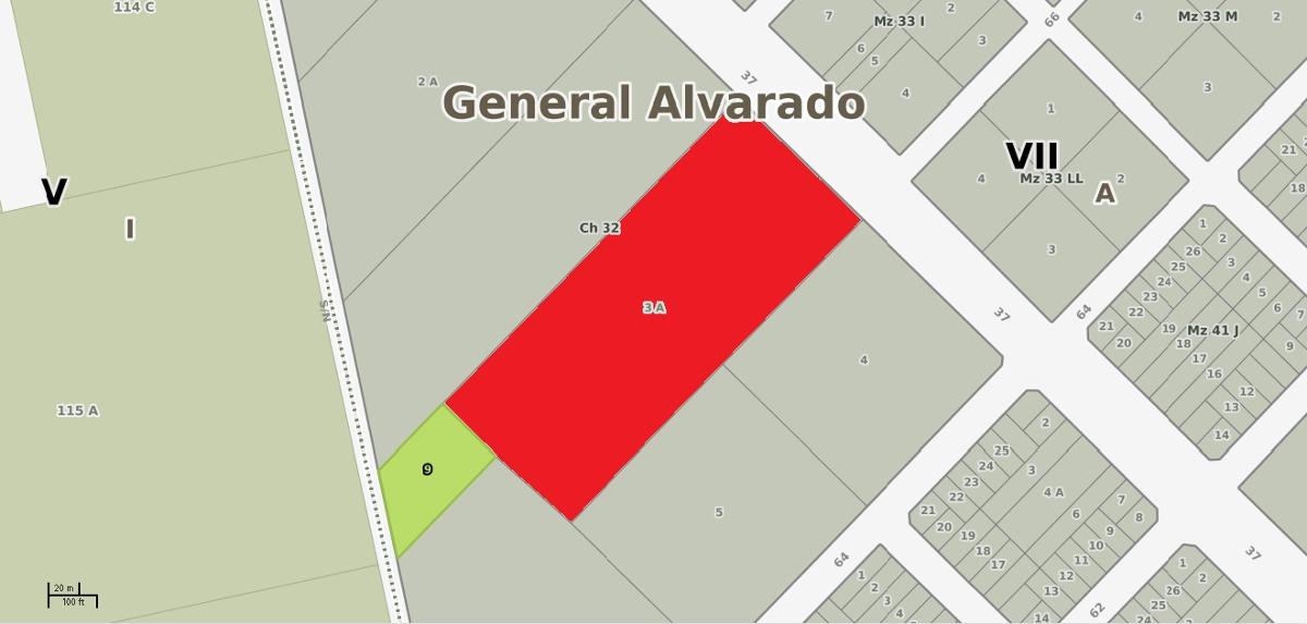 terreno en venta miramar sobre avenida 37 zona de quintas