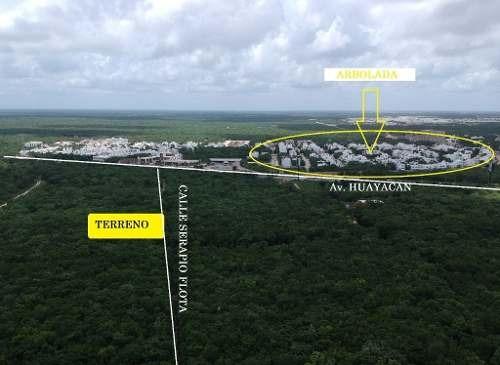 terreno en venta muy cerca de av. huayacan y resd. arbolada c2254