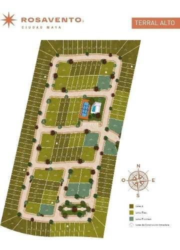 terreno en venta privada terral alto rosavento, dzidzilche
